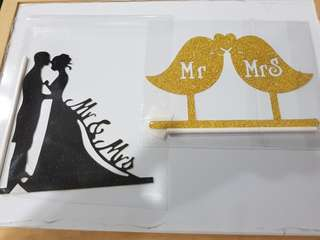 Couple Mr Mrs Wedding/ Anniversary cake topper