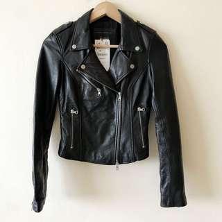 🆕 Zara genuine leather jacket