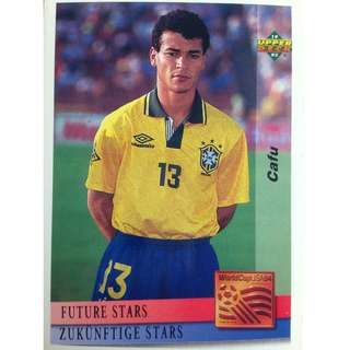 Cafu (Brazil) - Soccer Football Card #130 (Future Stars) - 1993 Upper Deck World Cup USA '94 Preview Contenders
