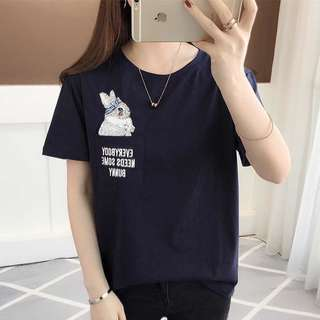 Plus Size Cute Bunny Shirt Top Tee Up To 75KG[PO]