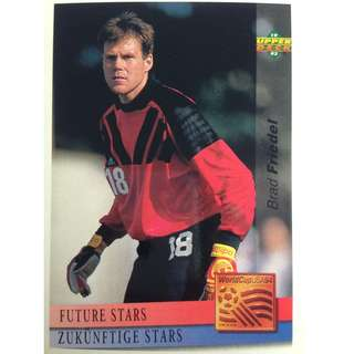 Brad Friedel (USA) - Soccer Football Card #129 (Future Stars) - 1993 Upper Deck World Cup USA '94 Preview Contenders