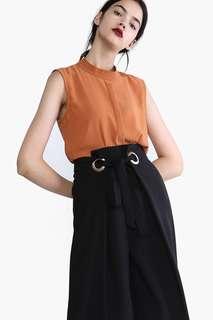 YHF Stay Smart Peplum Top (Orange)