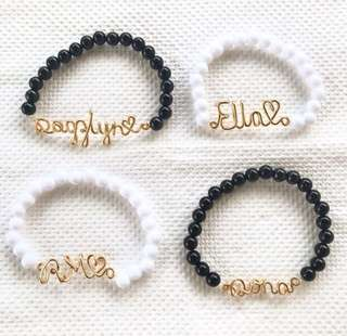 Personalized Beaded Bracelet