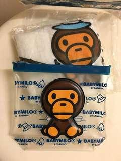 正版BabyMilo毛巾仔連袋