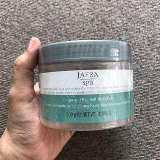 Jafra ginger and sea salt body rub