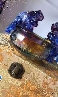 琉璃貔貅一对和聚宝盆