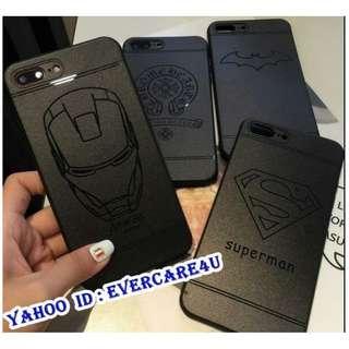 🎀 全新 IPhone 7 Plus 手機殼  手機套 Iron man 蝙蝠俠超人保護套 marvel 電話殼 Case 電話套 保護殼