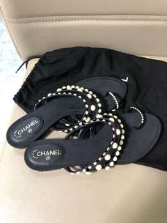 Chanel slippers size 37c