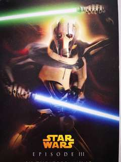 Stars Wars Episode lll postcards x7 & one Bounty hunters poster small