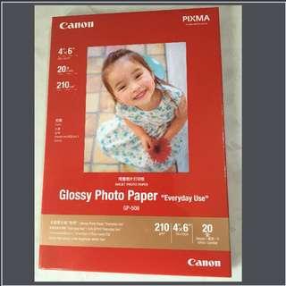 """Canon噴墨照片打印紙 """"4x6""""(20張)"""