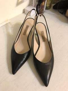 Zara尖頭高跟鞋#黑39