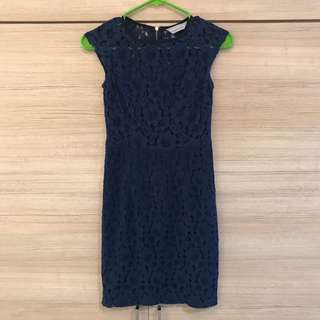 Dorothy Perkins Petite Blue Lace Dress