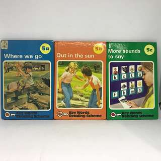 Where We Go | Out In The Sun | More Sounds To Say | Ladybird Key Words Reading Scheme 5a 5b 5c