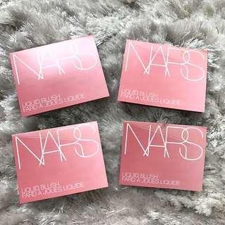 ✨FREE NM✨ NARS Orgasm Liquid Blush Sample Card ✨