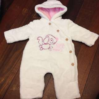 Baby Fur Winter Suit size 56