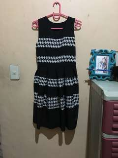 Black stripes dress