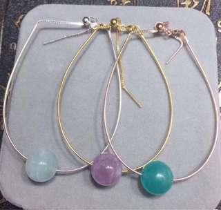 925銀手鏈 配天然水晶珠子