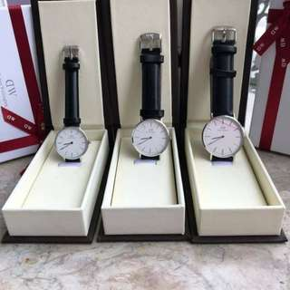 Authentic daniel wellington watch metal strap & Leather Strap