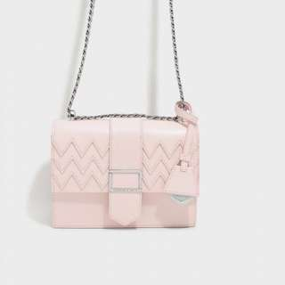 Charles & Keith Chevron Detail Sling Bag