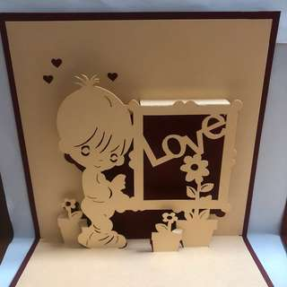 3D Handmade Love Pop Up Card For Clearance Sale