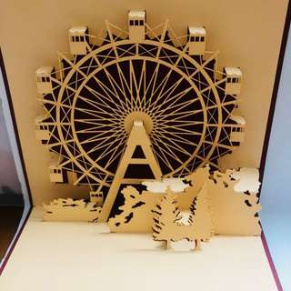 3D Handmade London's Eye Architecture Pop Up Card For Clearance Sale