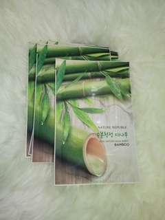 Nature Republic Real Mask Sheet Bamboo Masker Wajah