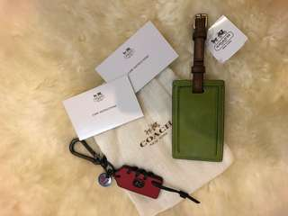 Coach Genuine Tag & Keychain