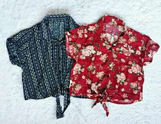 Floral crop polo *RED*