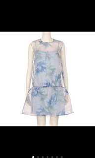 🚚 Snidel 雪紡 透明網紗 洋裝 碎花