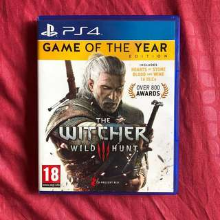 PS4 Witcher 3 Game of the Year Edition