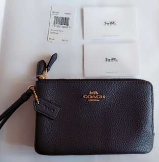 Coach Zip Wristlet Wallets 100% new and real