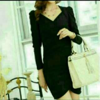 BN OL Overlap Black Dress