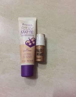 Rimmel foundation + benefit high beam