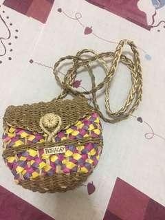 購自長灘島 - 紫色草藤袋 straw bag