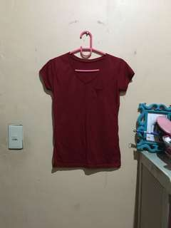 Red vneck shirt