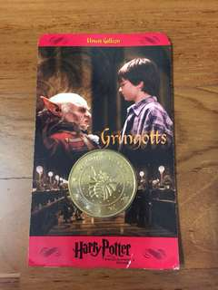 BNIP! Harry Potter and the Philosopher's Stone Gringotts Bank Coin