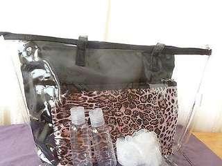 Modella 6pc Clear Tote Bag Set