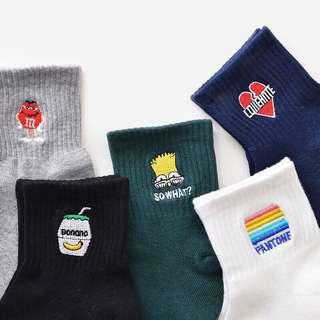 korean iconic socks ulzzang harajuku style mid cut