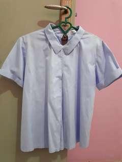 Baju Berkerah (Blue)