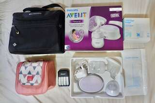 Breast Pump Set with FREEBIES