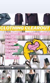 CLOTHING CLEAROUT!! 💕💕💕