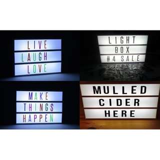 A4 Cinematic LED Light Box with Free 90pc Letter Brand New
