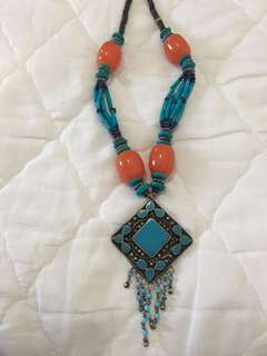 Necklace - Turquoise Orange