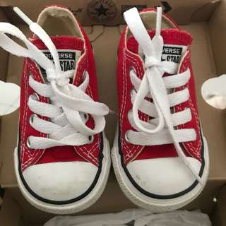Baby converse red sneakers