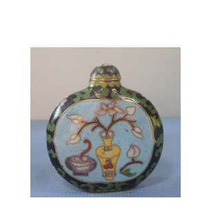 Vintage Chinese cloisonne snuff bottle hand crafted Beijing circa 1960s new