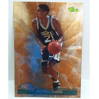 1995 Rare Classic NBA Cards Images #25 (Antonio Lang)