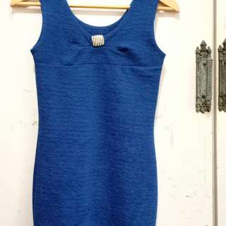 Fitted Navy Blue dress