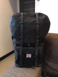 Herschel Little America Black Gridlock Backpack
