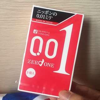 岡本001保險套3入