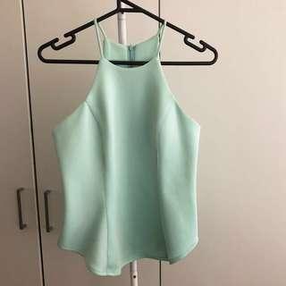 Mint Green Halter Neck Top